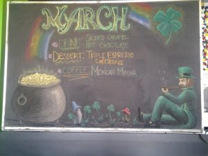 CHALK BOARD MARCH