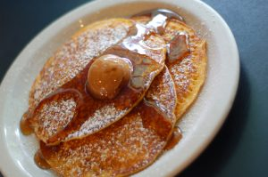 Pumpkin Pancakes with Syrup
